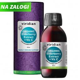 Črni bezeg z vitaminom C v sirupu - ekološki izvleček, 100ml