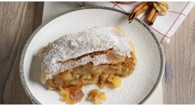 Domač jabolčni štrudelj (veganski recept)