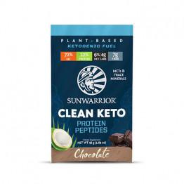 Sunwarrior veganski keto proteini čokolada - malo pakiranje v vrečki, 48 g