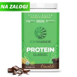 Sunwarrior Classic rastlinski proteini - Čokolada, 750 g