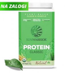 Sunwarrior Classic rastlinski proteini - Naravni, 750 g