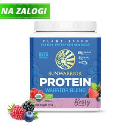 Sunwarrior Warrior Blend rastlinski proteini - Jagodičevje, 375 g
