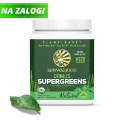 Sunwarrior Ormus super-zelenje, naravni okus, 225 g (za 45 napitkov)