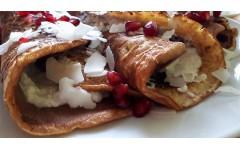 Recept za proteinske palačinke z raffaello kremo + triki za pripravo