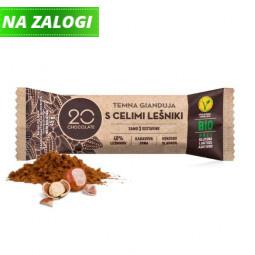 Lešnikova temna čokolada - gianduja 20 chocolate