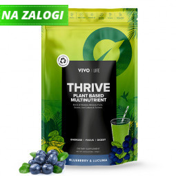 Multivitaminska mešanica Thrive borovnica in lucuma, 240 g