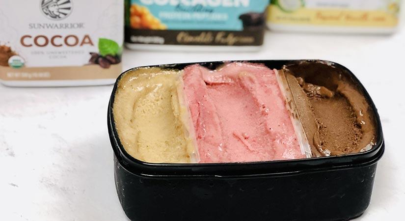 Domač veganski »planica« sladoled