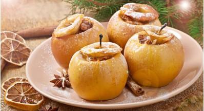 Topla pečena jabolka brez dodanega sladkorja