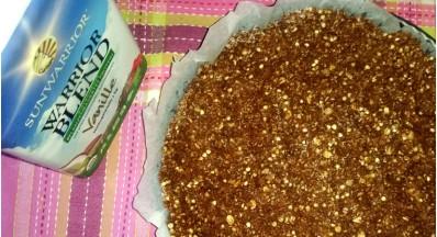 Proteinska čokoladno - bananina pita iz granole