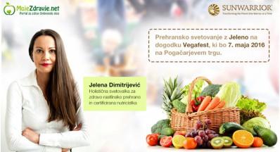 Prehransko svetovanje z Jeleno na Vegafestu