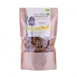 Ekološka presna granola z okusom banane in vanilije
