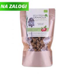 Ekološka presna granola z okusom jabolka in cimeta