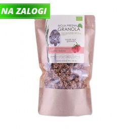 Ekološka presna granola z okusom kokosa in jagode