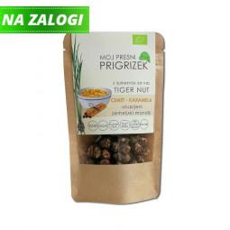 Ekološki presni olupljeni zemeljski mandlji, cimet – karamela, 50 g
