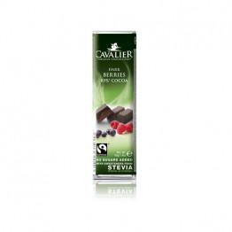 Cavalier temna čokolada berries (temna čok. 85 % z jagodičevjem), 40 g