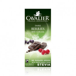 Cavalier Dark Berries (temna 85 %) čokolada z okusom jagodičevja, 85g