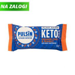 Presna keto proteinska tablica s pomarančo, čokolado in arašidi, 50 g