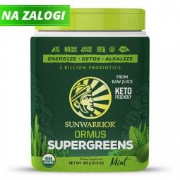 Sunwarrior Ormus super-zelenje, poprova meta, 450 g