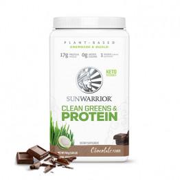 Sunwarrior Clean Greens & protein - presne beljakovine z zelenjavo z okusom čokolade, 750 g