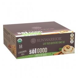 Sol Good Bar paket proteinskih tablic z okusom cimeta, 12 x 67 g