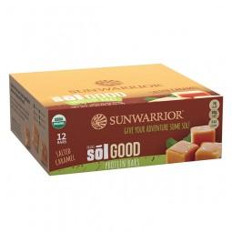 Sunwarrior Sol Good Bar paket proteinskih tablic z okusom slane karamele, 12 x 66 g