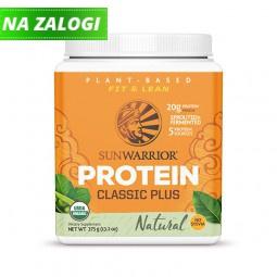 Sunwarrior Classic PLUS rastlinski proteini - Naravni, 375 g