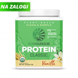 Sunwarrior Classic rastlinski proteini - Vanilija, 375 g
