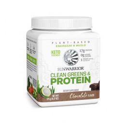 Sunwarrior Clean Greens & protein - beljakovine z zelenjavo z okusom čokolade, 175 g