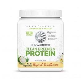 Sunwarrior Clean Greens & protein - presne beljakovine z zelenjavo z okusom vanilije, 175 g