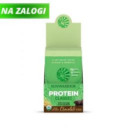 Sunwarrior proteini – paket 12 vrečk x 25 g, Classic čokolada