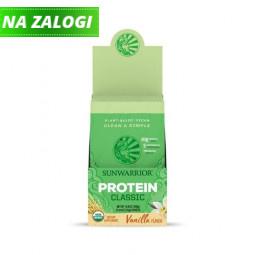 Sunwarrior proteini – paket 12 vrečk x 25 g, Classic vanilija