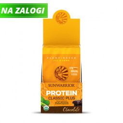 Sunwarrior proteini – paket 12 vrečk x 25 g, Classic Plus čokolada