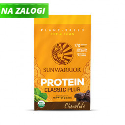Sunwarrior proteini – malo 25 g pakiranje v vrečki, Classic Plus čokolada