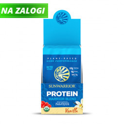 Sunwarrior proteini – paket 12 vrečk x 25 g, Warrior Blend vanilija