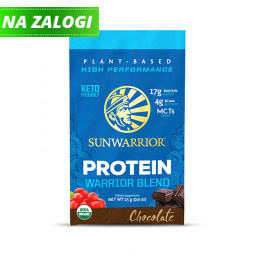 Sunwarrior proteini – malo 25 g pakiranje v vrečki, Warrior Blend čokolada
