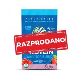Sunwarrior proteini – malo 25 g pakiranje v vrečki, Warrior Blend jagodičevje