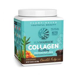 Sunwarrior rastlinski kolagen gradniki, okus čokoladni fudge – prehransko dopolnilo, 500 g