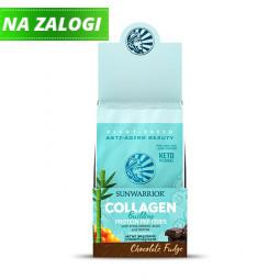 Sunwarrior rastlinski kolagen gradniki, okus čokoladni fudge – paket 12 vrečk x 25 g