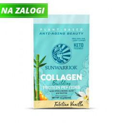 Sunwarrior rastlinski kolagen gradniki, okus tahitijska vanilija – 25 g