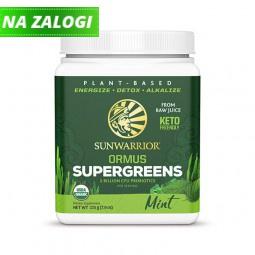 Sunwarrior Ormus super-zelenje, poprova meta, 225 g (za 45 napitkov)