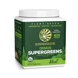 Sunwarrior Ormus super-zelenje, poprova meta, 450 g (za 90 napitkov)