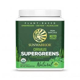 Sunwarrior Ormus super-zelenje, naravni okus, 450 g (za 90 napitkov)